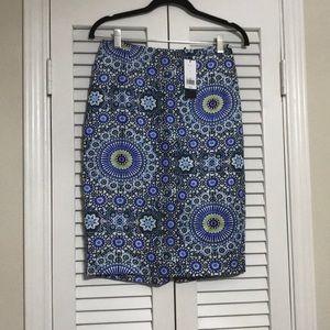 NEW Banana Republic Paisley Skirt, 0